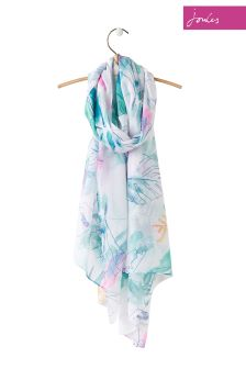 Joules Palm Floral Woven Wensley Scarf