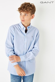 GANT Boys Blue Archive Oxford Stripe B.D Shirt