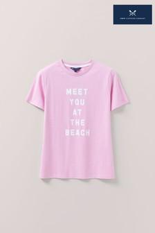 Crew Clothing Pink Holiday Shop T-Shirt