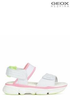 Geox Girl's Lunare White Sandals