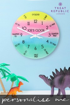 Personalised Tell The Time Wall Clock by Treat Republic