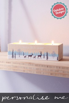 Personalised Cosy Candle Holder by Oakdene Designs