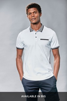 Jacquard Collar Poloshirt
