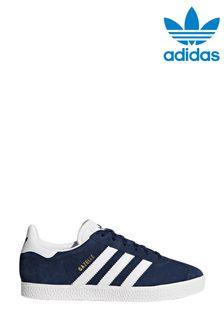 adidas Originals Navy/White Gazelle Trainers