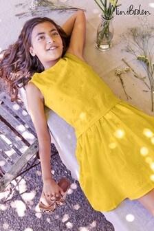 Boden Yellow Strawberry Broderie Dress