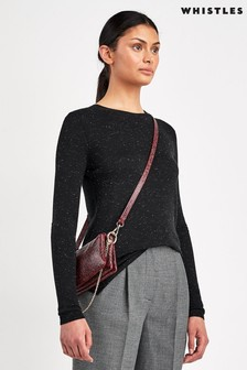 Whistles Black Annie Sparkle Knit Jumper