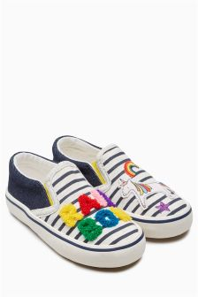 Rainbow Skate Shoes (Younger)