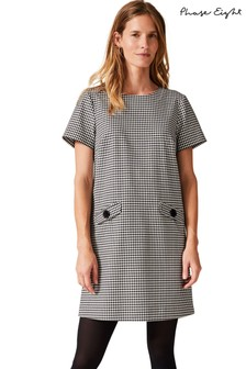 Phase Eight Black Ridley Dogtooth Dress