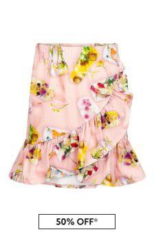 Molo Girls Pink Cotton Skirt