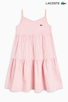 Lacoste® Pink/White Stripe Dress