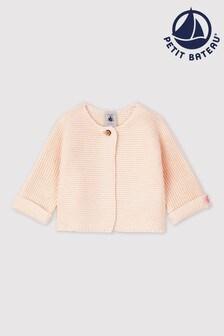 Petit Bateau Pink Knitted Cardigan