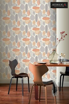 Malmo Geo Leaves Wallpaper by Arthouse