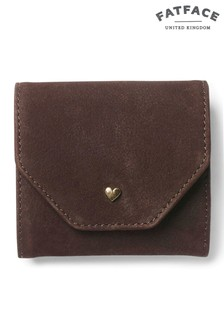 FatFace Chocolate Heart Stud Fold Over Purse