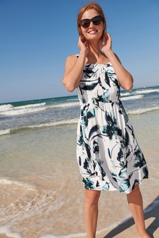 Shirred Short Dress