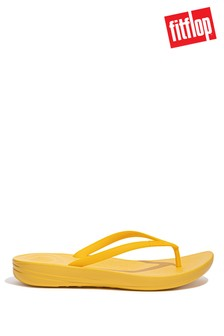 FitFlop Yellow iQushion Ergonomic Flip Flops