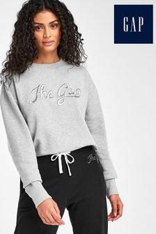 Gap Grey Script Logo Sweater
