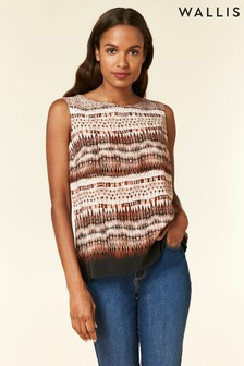 Wallis Natural Petite Neutral Hotfix Shell Top