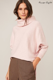 Phase Eight Pink Palmer Cowl Neck Jumper