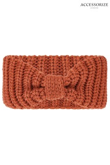 Accessorize Tan Bea Chunky Knit Bando Headband