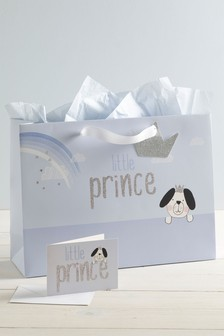 Little Prince Bag, Card And Tissue Set