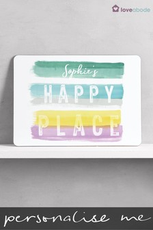 Personalised Happy Place Sign by Loveabode