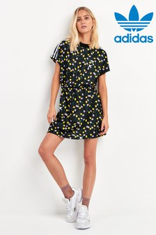 adidas Originals Black Bellista Printed Tee Dress