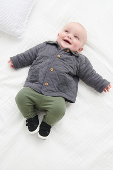 Quilted Popper Jacket (0mths-2yrs)