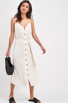 Платье на пуговицах с карманами