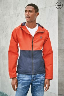 Shower Resistant Colourblock Jacket With Fleece Lining