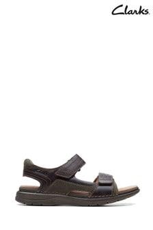 Clarks Mahogany Combi Nature Trek Sandals