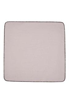 Baby Beige Cotton Logo Blanket