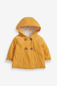 Cord Hooded Jacket (0mths-2yrs)