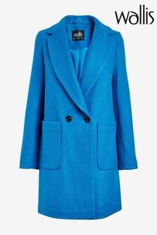 מעיל של Wallis דגם Cosy Crombie בכחול