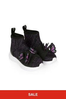 Sophia Webster Girls Black Riva Sneakers
