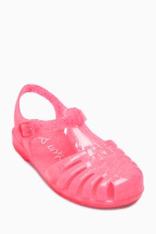 Glitter Jelly Sandals (Younger)