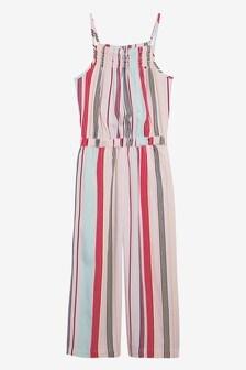 Tommy Hilfiger Girls Candy Stripe Jumpsuit