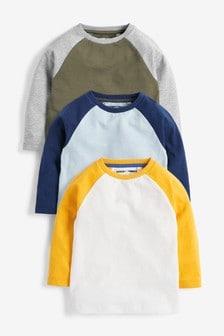 Набор из 3 футболок с рукавами реглан (3 мес.-7 лет)