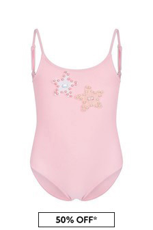 Selini Action Girls Pink Swimsuit