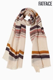 FatFace Natural Multi Stripe Scarf