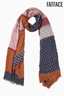 FatFace Blue Patchwork Scarf