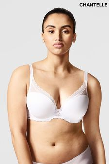 Chantelle White Parisian Allure Plunge T-Shirt Bra