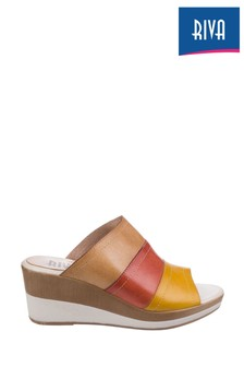 Riva Brown Santo Wedge Mule Sandals