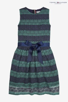 Tommy Hilfiger Striped Lace Dress