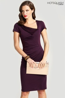 HotSquash Asymmetric Neckline Day To Night Dress
