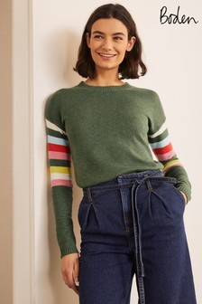 Boden Green Lennox Relaxed Jumper