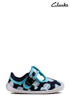 Clarks Navy Interest Roamer Sun T Canvas Shoes