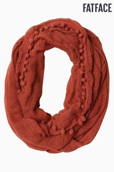 FatFace Orange Pom Pom Snood