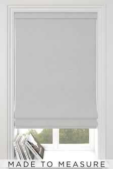 Jasper Frost White Made To Measure Roman Blind