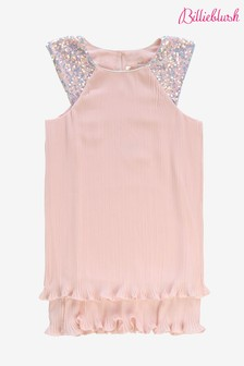Billie Blush Pleated Dress