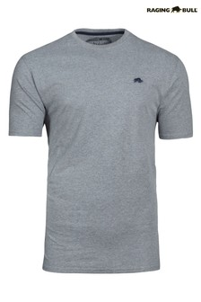 Серая фирменная футболка Raging Bull